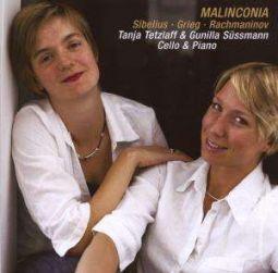 MALINCONIA: Works for cello & piano: Jean Sibelius & Edvard Grieg & Sergej Rachmaninov