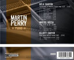 Music of Bartok, Rozsa and Carter for Piano