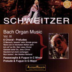 Bach: Orgelmusik Vol. 3: 6 Choral Preludes, Passac