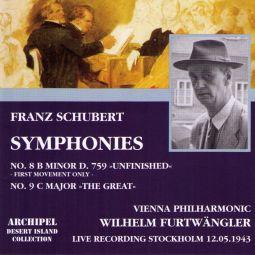 Schubert: Symphony Nr. 8 (Stockholm 12.05.1943)