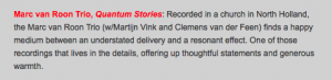 eMusic review of Quantum Stories