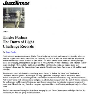JazzTimes review of