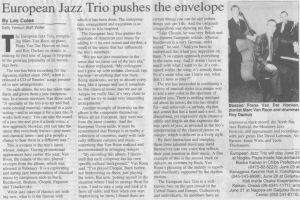 European Jazz Trio in Daily Yomiuri (Japan)