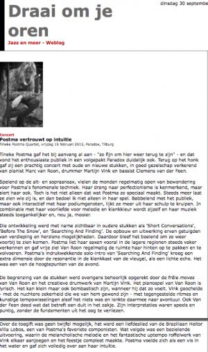 Concert review in Draai om je Oren webzine