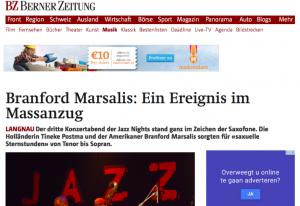 Berner Zeitung: Concert Review