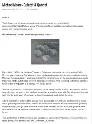Review Michael Moore Quintet: Rotterdam