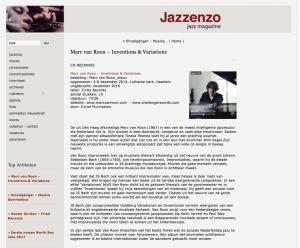 Great review in Jazzenzo jazz magazine