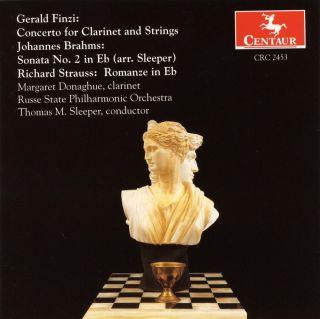 Finzi, G.: Clarinet Concerto, Op. 31 / Brahms, J.: Clarinet Sonata No. 1 / Strauss, R.: Romanze