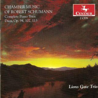 Schumann, R.: Piano Trios (Complete) / Marchenbilder / 5 Pieces in Folk Style / Fantasiestücke / 3 Romanzen