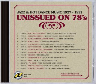 Unissued on 78s Jazz & Hot Dance Music 1927 - 1931