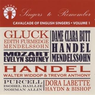 Cavalcade of Enlgish Singers - Volume 1