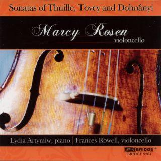 Sonatas of Thuille, Tovey & Dohnányi