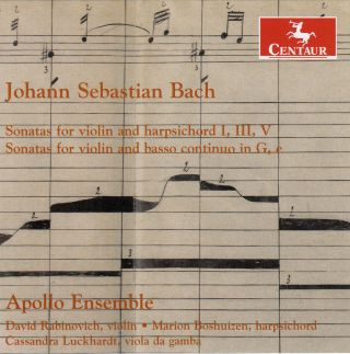 Sonatas for violin and harpsichord; Sonatas for violin and basso continuo