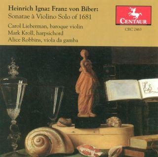 Sonatae a Violino Solo of  1681