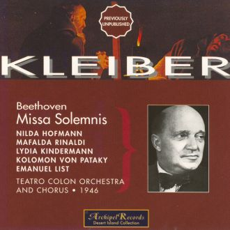 Beethoven: Missa Solemnis (Buenos Aires, 1946)