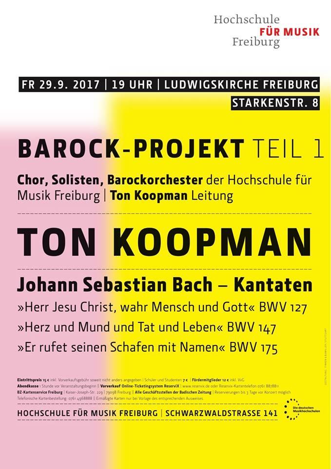 Bachkantate-project Hochschule für Musik Freiburg
