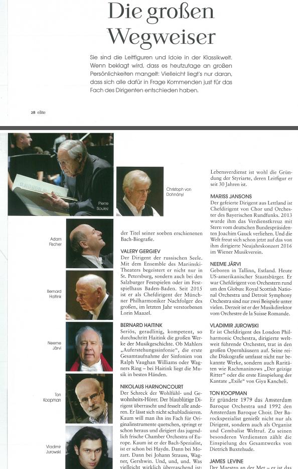 Beste dirigenten volgens Elite Magazin