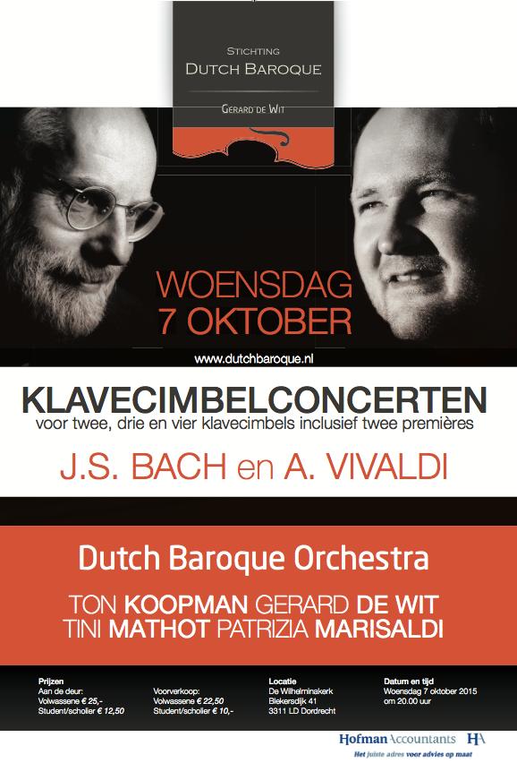 Twee premieres van arrangementen door Ton Koopman